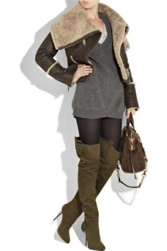 yesil bayan diz ustu cizmeler 2013 dizüstü bayan çizme modelleri