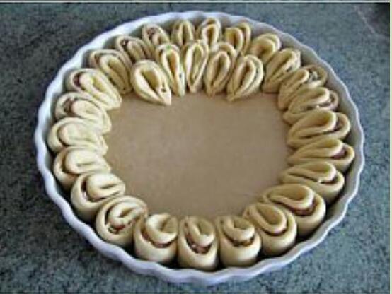 Рецепт пирог хризантема с