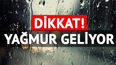 22 şehirde kuvvetli yağış uyarısı!