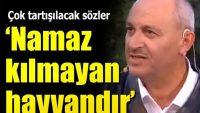 TRT canlı yayınında söyledi: Namaz kılmayan hayvandır